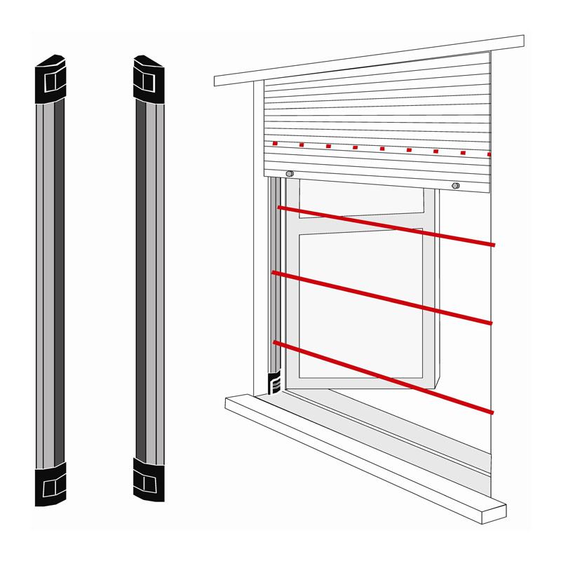Dispositivi antifurto wireless tecnoalarm torino - Protezione per finestre ...