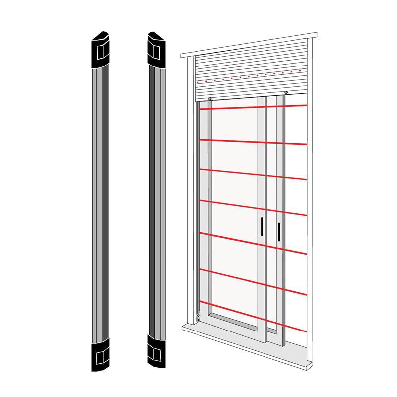 Dispositivi antifurto wireless tecnoalarm torino - Barriere infrarossi per finestre ...